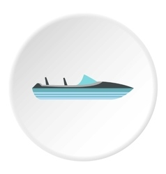 Little powerboat icon flat style vector image