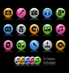 Media Entertainment Icons vector image
