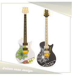 Medical marijuana guitar two vector