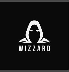 minimalist wizard logo icon template vector image