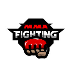 mma fighting logo vector image
