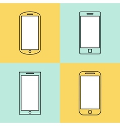 Mobile phone icons set Smartphone design template vector image