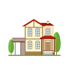 modern house real estate vector image