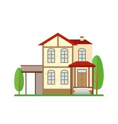 modern house real estate vector image