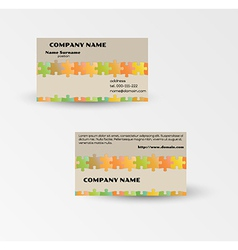 modern puzzle business card template vector image