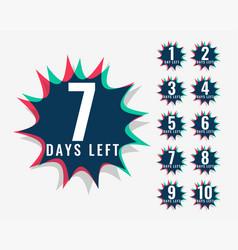 Number of days left symbol vector
