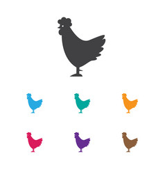 Of zoo symbol on rooster icon vector