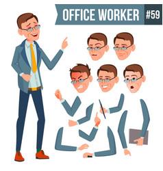 office worker emotions gestures vector image