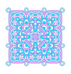 Ornamental square mandala vector
