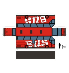 Paper model a red bus vector