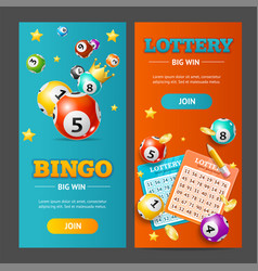 realistic lotto banner vertical set vector image