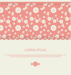 romantic banner design floral with banner vector image
