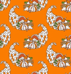 Seamless Thanksgiving pattern vector