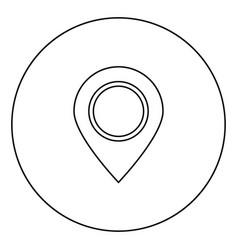 sign location icon black color in circle vector image