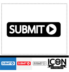 Submit icon vector