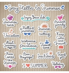 Summer letterings vector
