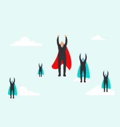 super business team-team super businessmen in vector image