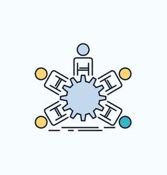 team group leadership business teamwork flat icon vector image