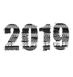tire track number 2019 vector image