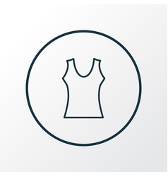 top icon line symbol premium quality isolated vector image