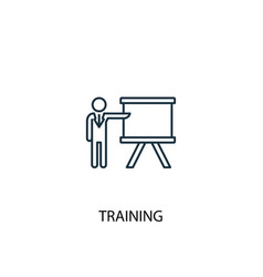 Training concept line icon simple element vector