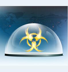 Warning biohazard burning symbol vector