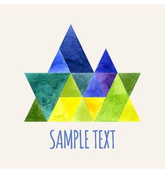 Watercolor triangular composition vector