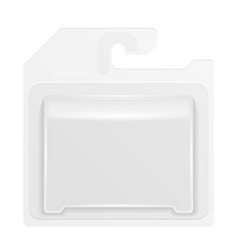 White product package box blister with hang slot vector