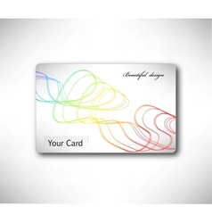Abstract gift Card with colorful curve vector image vector image