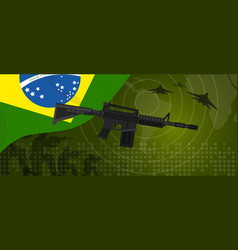 brazil military power army defense industry war vector image