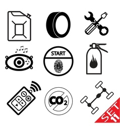 car part icon set 11 vector image vector image