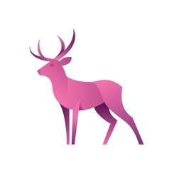 Deer graphic color for the modern vector image vector image