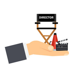 hand with director seat vector image