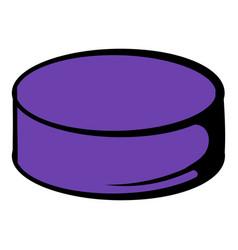 hockey puck icon icon cartoon vector image