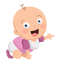 of cute baby vector image