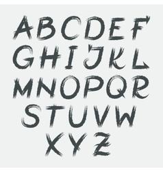 Hand drawn grunge watercolor alphabet vector image