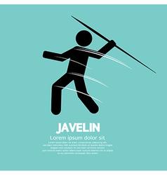 Javelin vector image