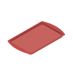 tray isolated salver empty on white background vector image vector image