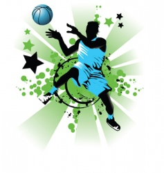basket ball star vector image vector image