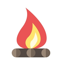Beautiful flat bonfire isolated vector image