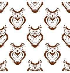 Cartoon owlet seamless pattern vector image