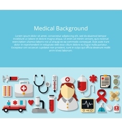Health care and medical background vector image