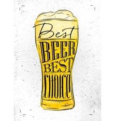Poster best beer vector image