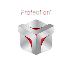 protection logo vector image