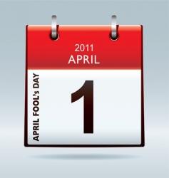 April fools day calendar vector image vector image