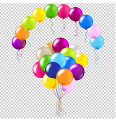 balloons colorful set vector image vector image