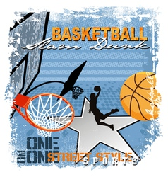 dunk basket ball vector image vector image