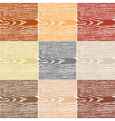 Set wood texture on white background vector