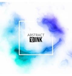 Abstract ink splash Liquid blurred smoke vector image