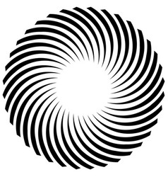 Abstract spiral element on white art vector